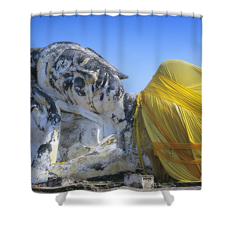 Ancient Shower Curtain featuring the photograph Thailand, Ayathaya by Gloria & Richard Maschmeyer - Printscapes