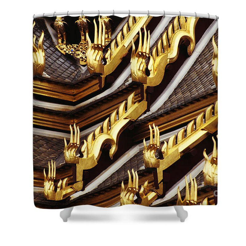 Architectural Shower Curtain featuring the photograph Thailand, Bangkok by Kyle Rothenborg - Printscapes