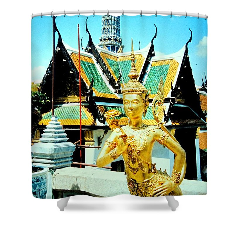 Bangcock Shower Curtain featuring the photograph Thailand by Ian MacDonald
