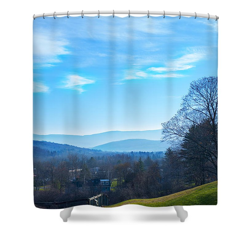 Land Shower Curtain featuring the photograph Thanksgiving Land by Rick Felty