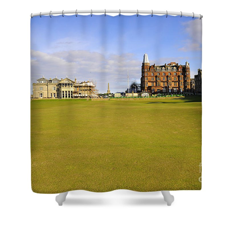 St Andrews Shower Curtain featuring the photograph The 18th by Smart Aviation