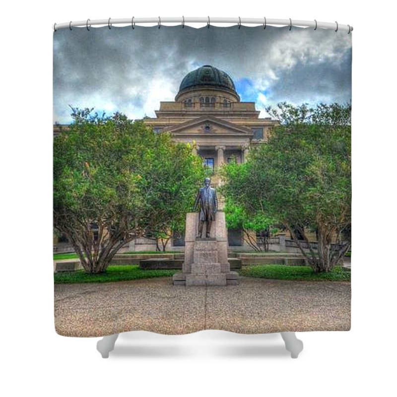 Academic Building Shower Curtain featuring the photograph The Academic Building by David Morefield