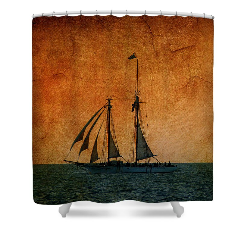 The America Shower Curtain featuring the photograph The America In Key West by Susanne Van Hulst