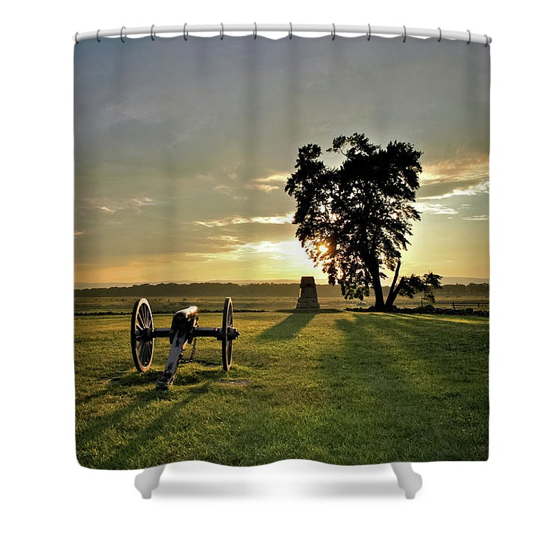 Civil War Shower Curtain featuring the photograph The Angle by Jen Goellnitz