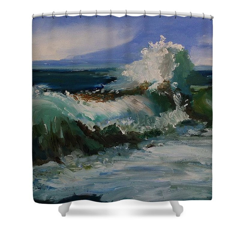 The Angry Sea At Nauset Beach Cape Cod Shower Curtain For Sale By Viola Holmgren