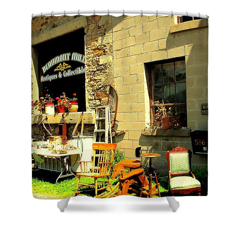 Antique Shower Curtain featuring the photograph The Antique Store by Ian MacDonald