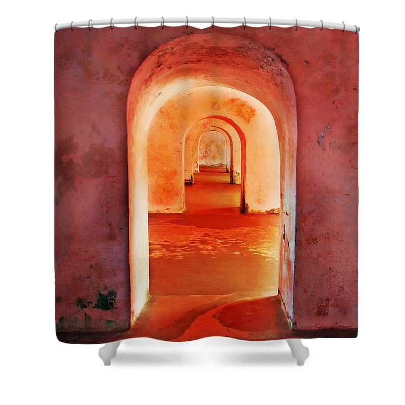 Arch Shower Curtain featuring the photograph The Arches by Perry Webster