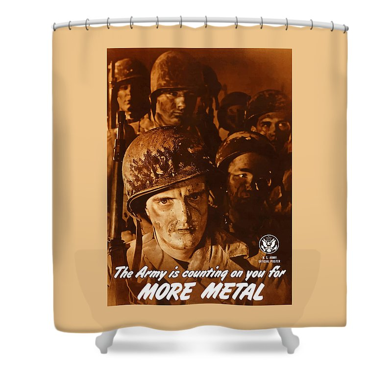 Army Shower Curtain featuring the painting The Army Is Counting On You by War Is Hell Store