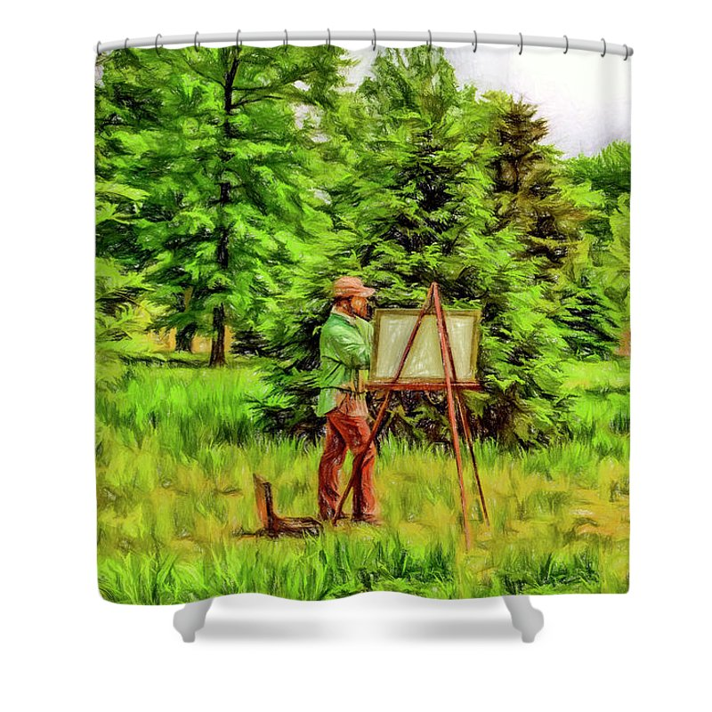 Current Shower Curtain featuring the photograph The Artist by Geraldine Scull