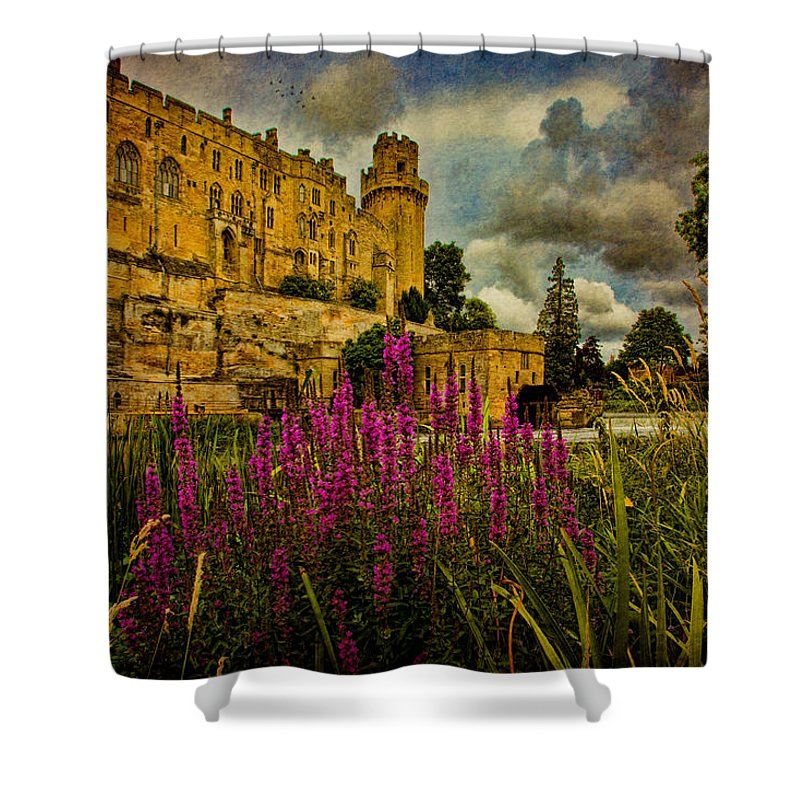 Castle Shower Curtain featuring the photograph The Avon At Warwick by Chris Lord