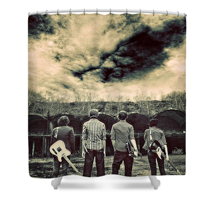 Band Shower Curtain featuring the photograph The Band Has Arrived by Meirion Matthias