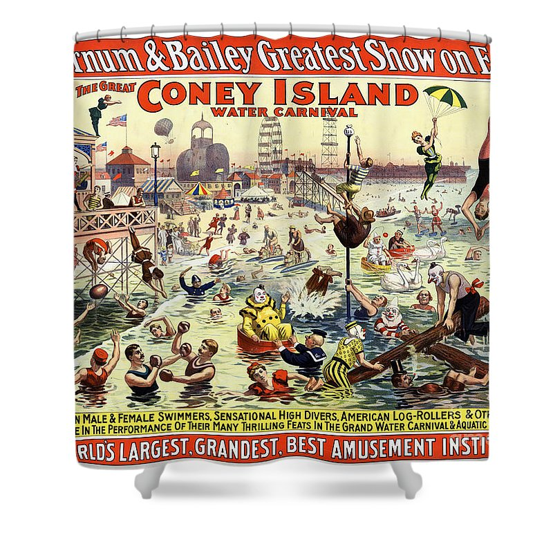 Barnum And Bailey Mixed Media Shower Curtains