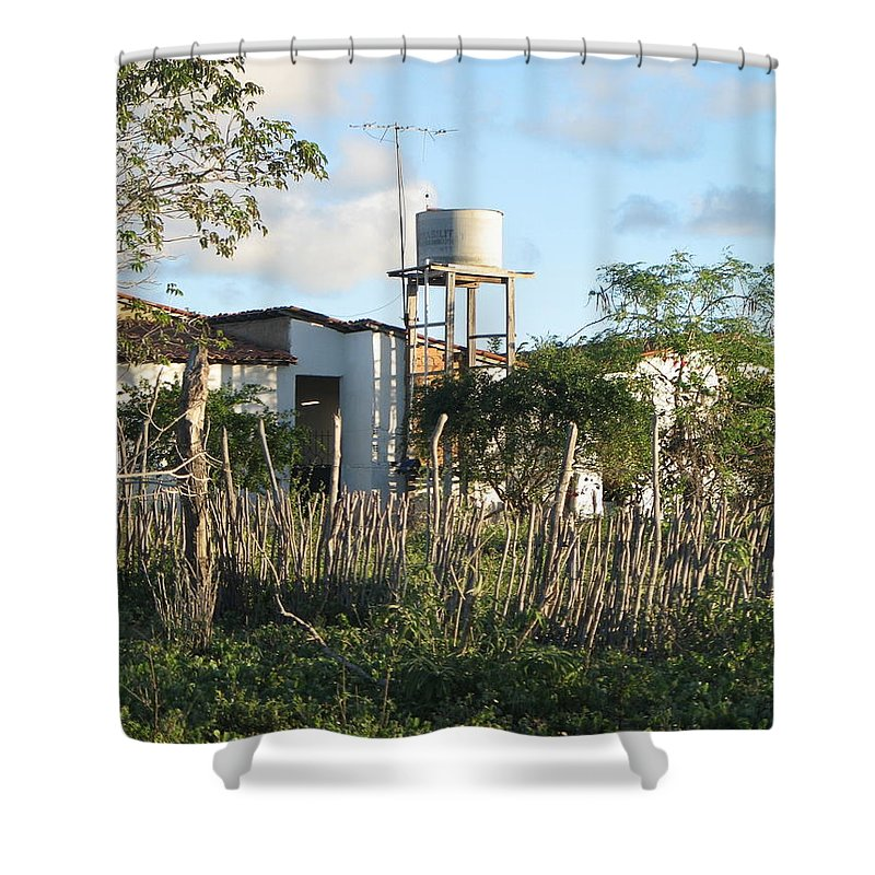 Rural Brazil Shower Curtain featuring the photograph The Basics by ML Everhart