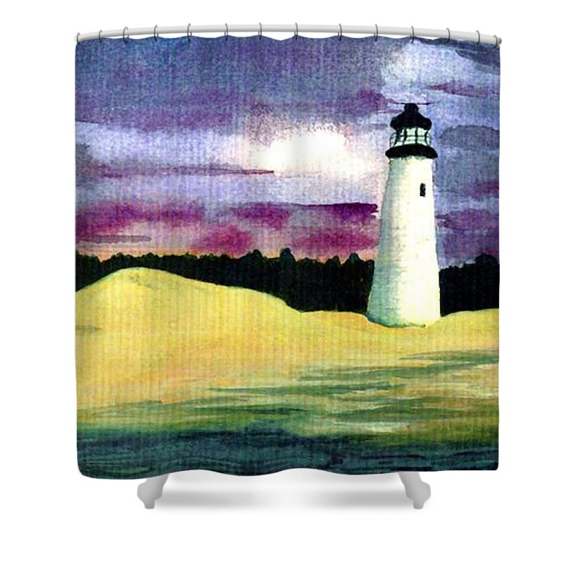 Fine Art Shower Curtain featuring the painting The Beacon by Patricia Griffin Brett