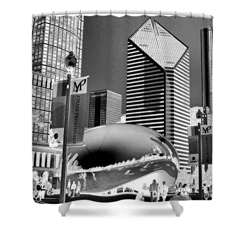The Bean Shower Curtain featuring the photograph The Bean - 2 by Ely Arsha