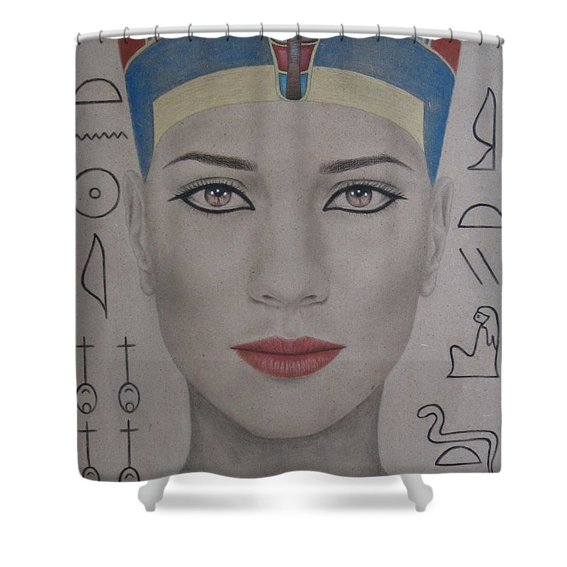 Woman Shower Curtain featuring the painting The Beautiful One Has Come by Lynet McDonald