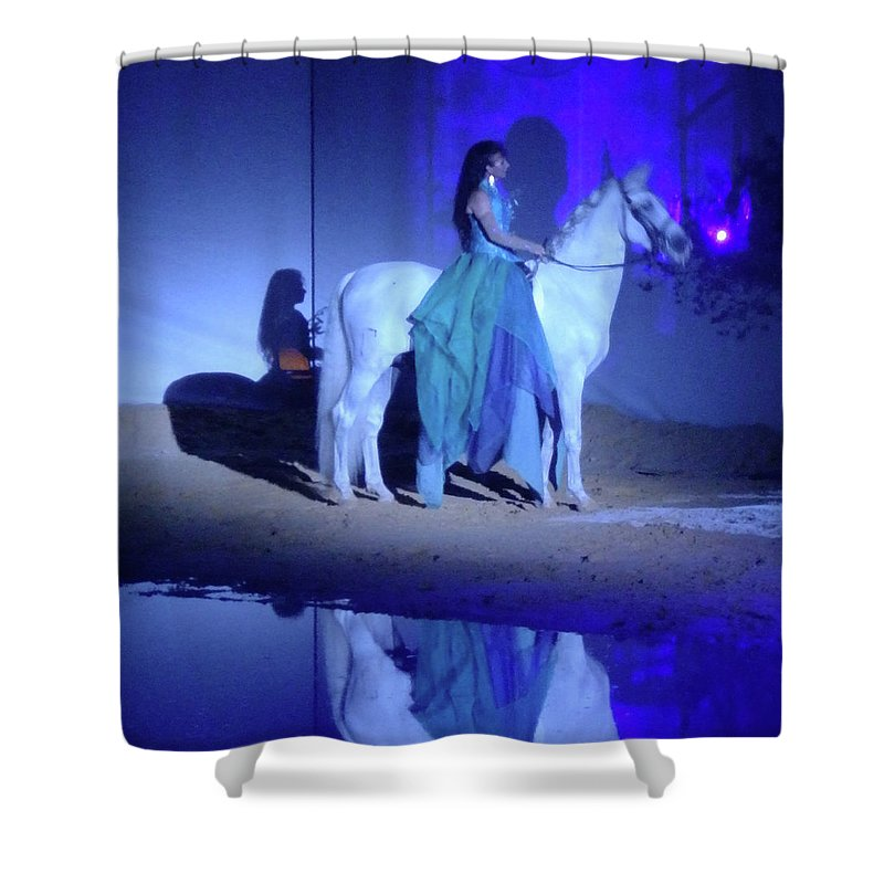 Horse Shower Curtain featuring the photograph The Beauty by Terry Pont
