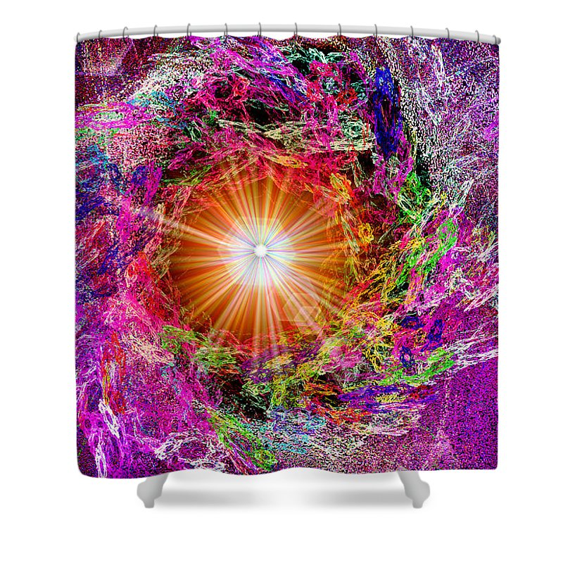 Digital Shower Curtain featuring the digital art The Beginning by Michael Durst