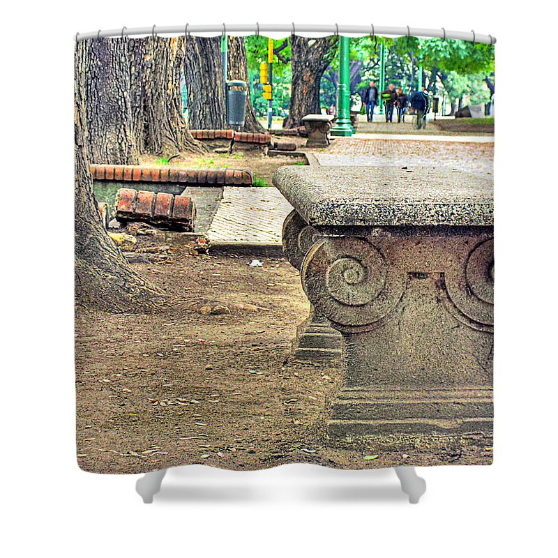 Bench Shower Curtain featuring the photograph The Bench by Francisco Colon