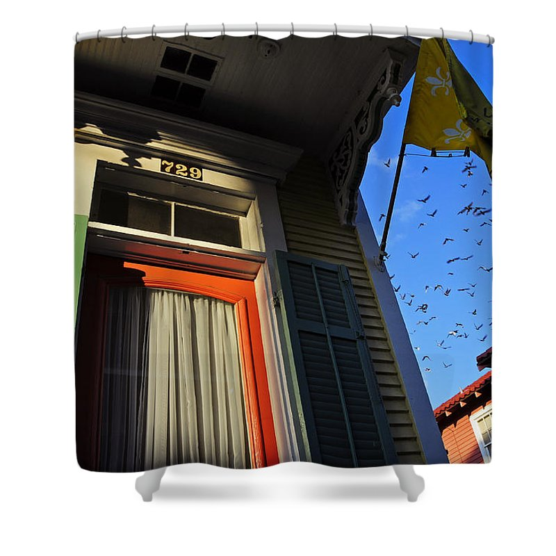 Skip Hunt Shower Curtain featuring the photograph The Birds by Skip Hunt