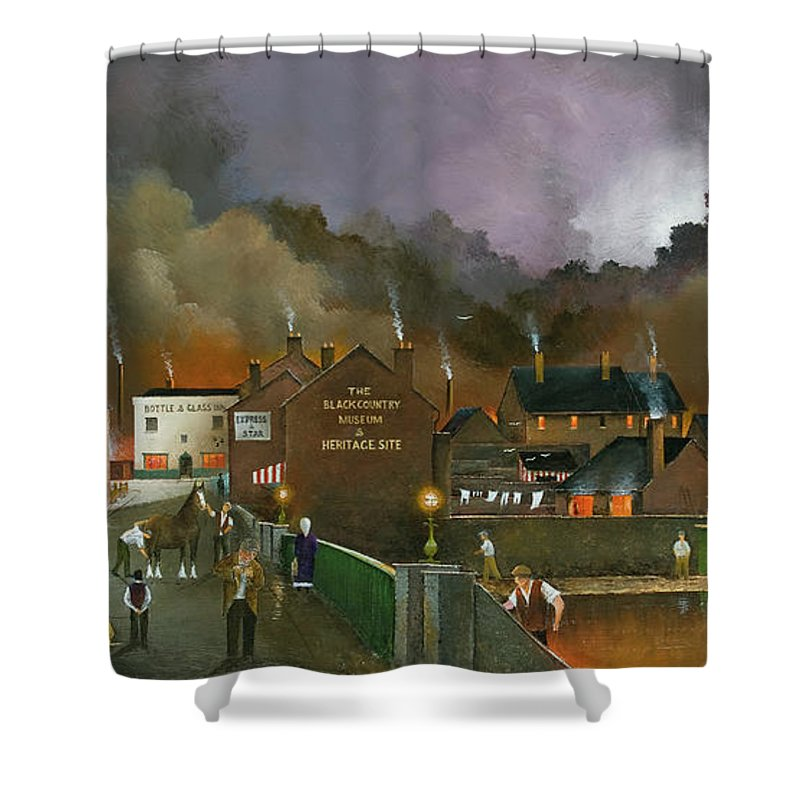 England Shower Curtain featuring the painting The Black Country Museum 2 by Ken Wood