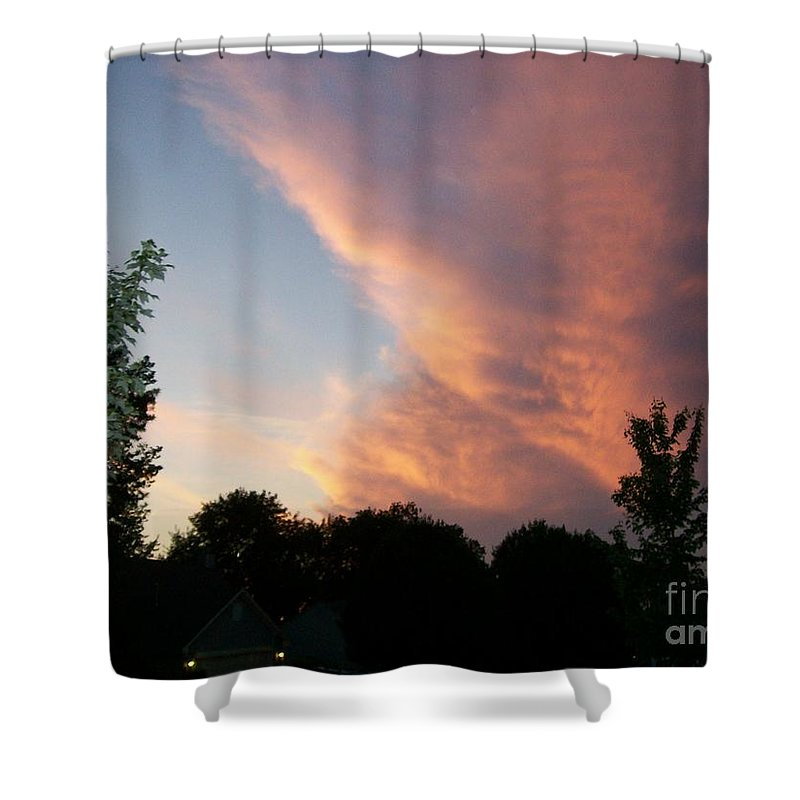 Sky Shower Curtain featuring the photograph The Blanket by Stephen King