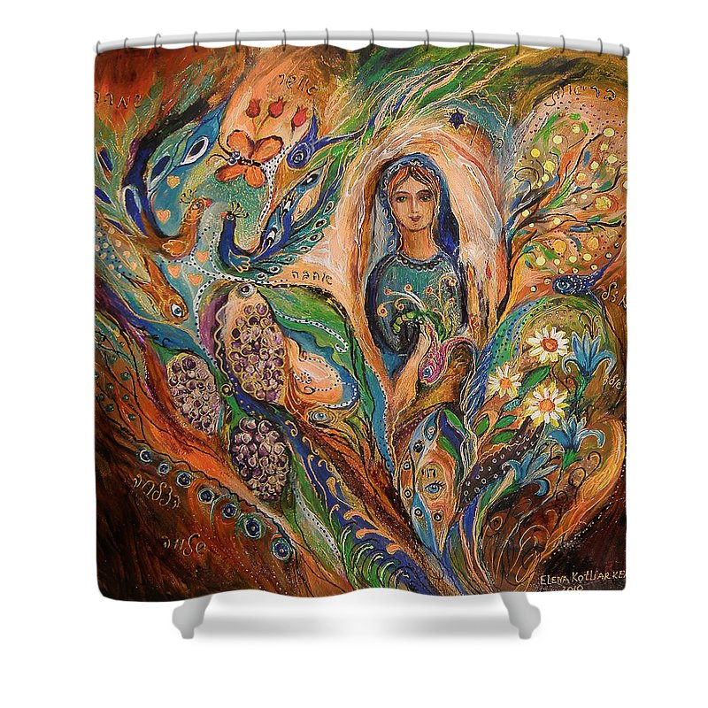 Original Shower Curtain featuring the painting The Blessing Of Grapes by Elena Kotliarker