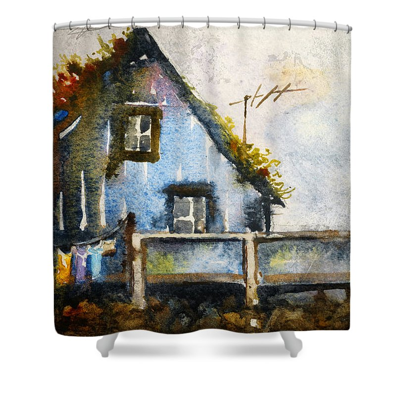 Thatched Roof Shower Curtains