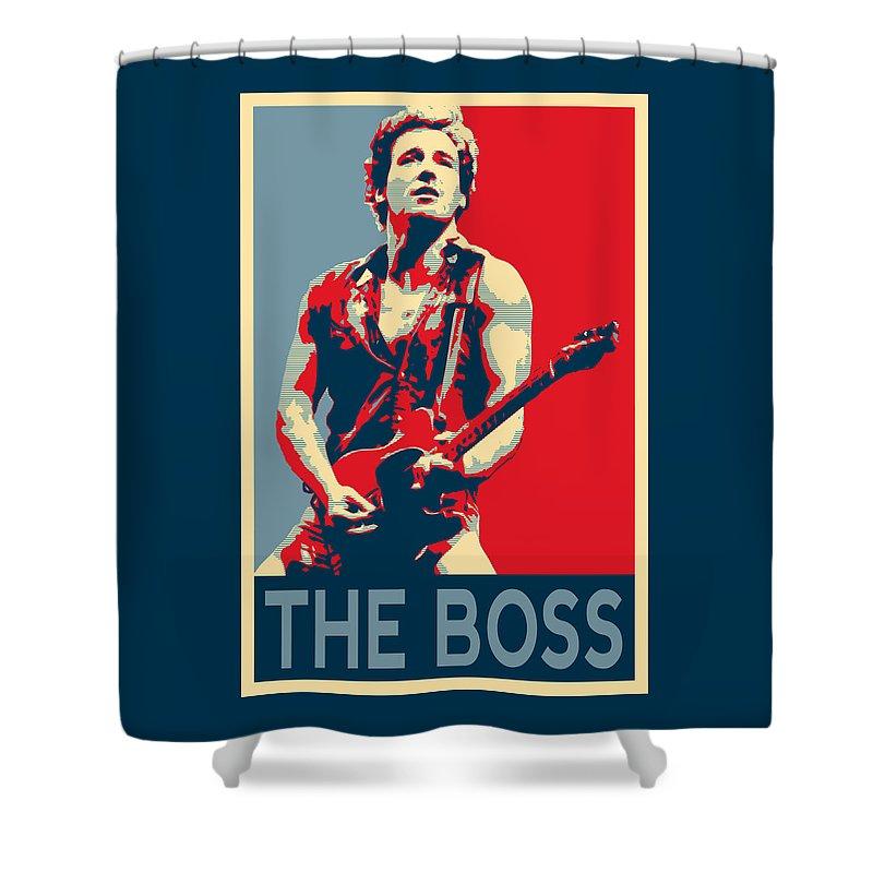 Boss Shower Curtain featuring the photograph The Boss by Twan Urselmann