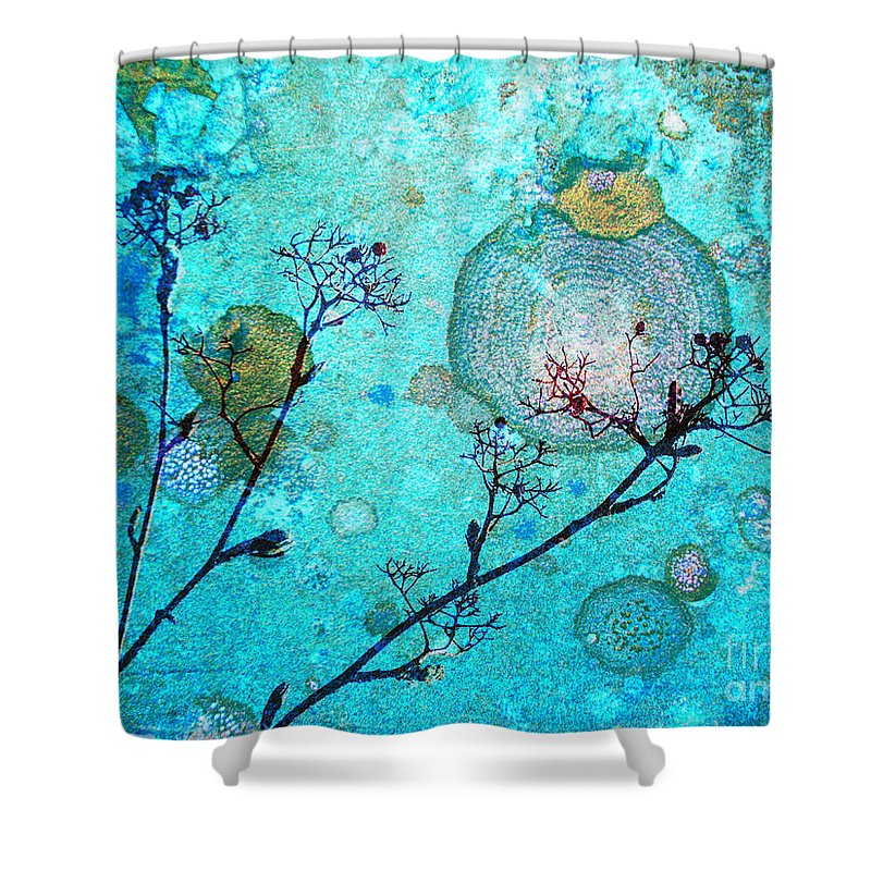 Rust Shower Curtain featuring the photograph The Branches And The Moon by Tara Turner