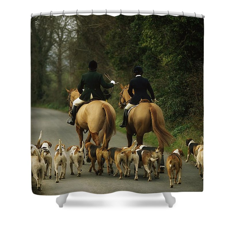 Activity Shower Curtain featuring the photograph The Bray Harriers, Co Wicklow, Ireland by The Irish Image Collection