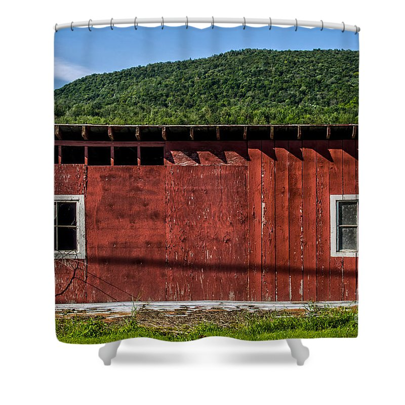 Farm Shower Curtain featuring the photograph The Broadside Of A Barn by James Aiken
