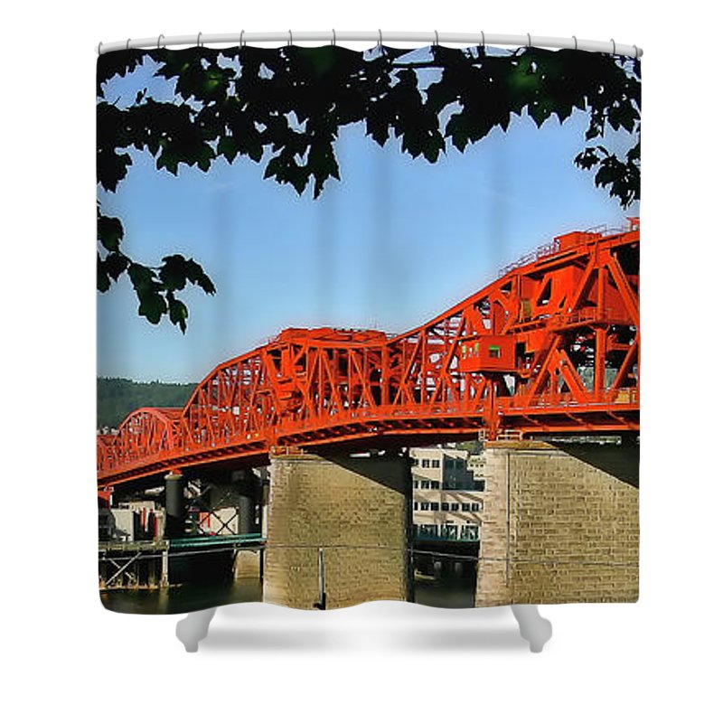 Broadway Bridge Shower Curtain featuring the photograph The Broadway Bridge by Albert Seger