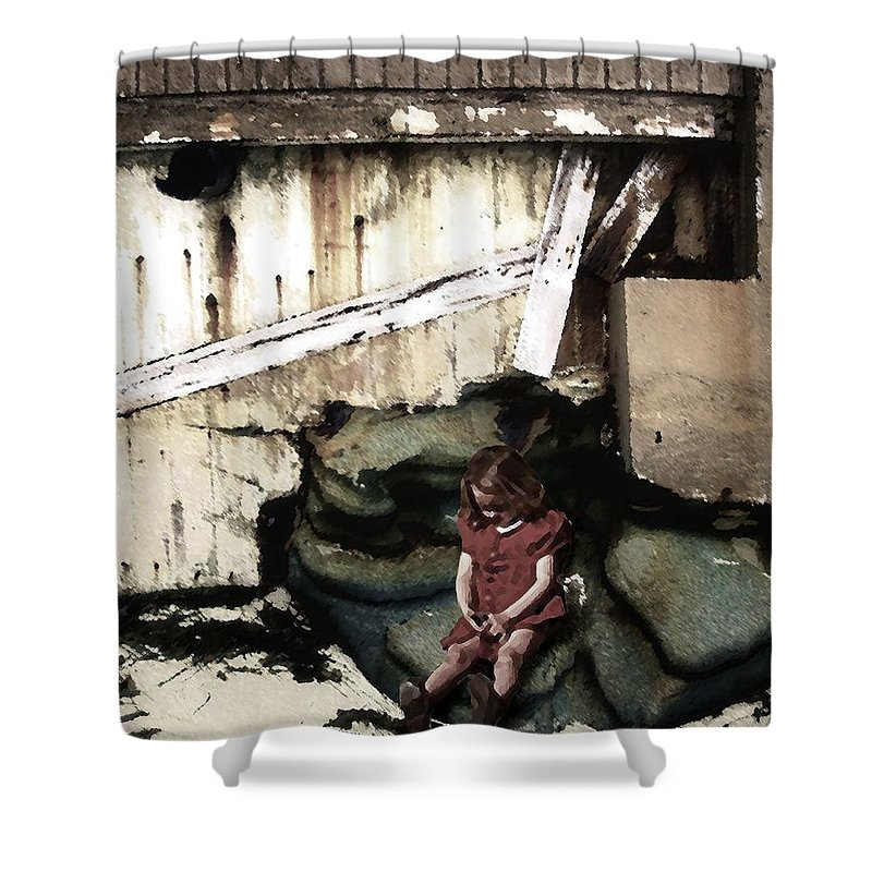 Broken Home Shower Curtain featuring the photograph The Broken Home by Timothy Bulone