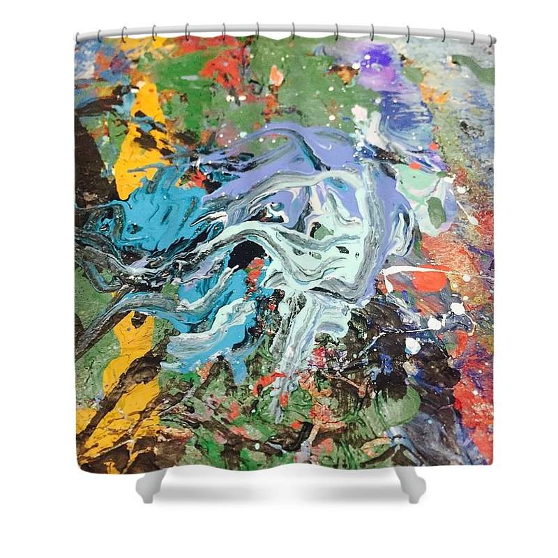 Art Shower Curtain featuring the painting The Battle Of Salamis by Edward Paul