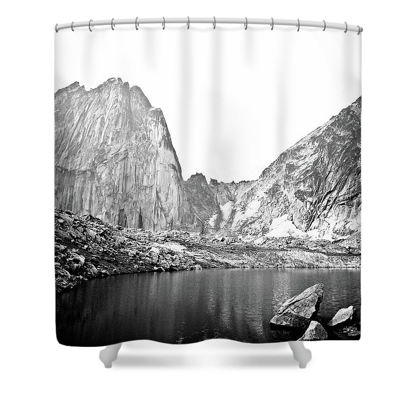 Bugaboo Mountains Shower Curtain featuring the photograph The Bugaboo Spires by Rebecca Wineka