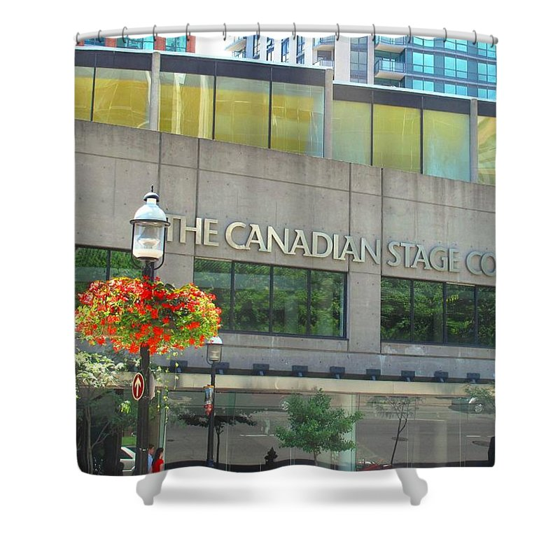 Canada Shower Curtain featuring the photograph The Canadian Stage Company by Ian MacDonald