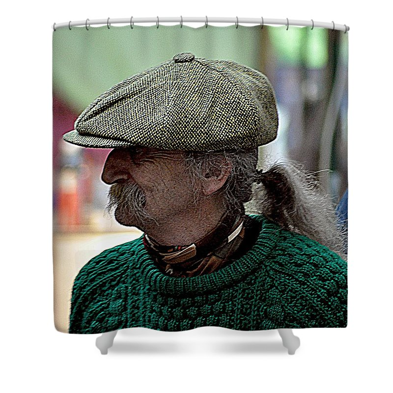 Cap Shower Curtain featuring the photograph The Cap by John Hughes