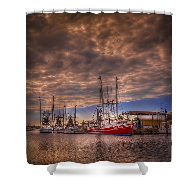 Clouds Shower Curtain featuring the photograph The Captain Jack by Marvin Spates