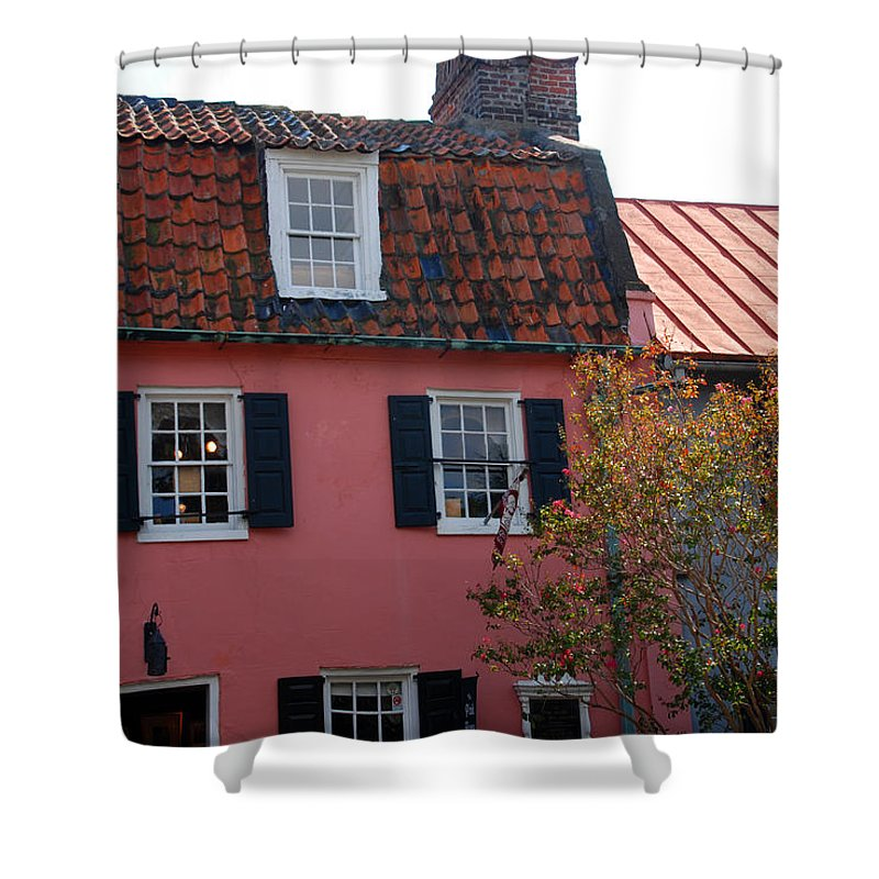 House Shower Curtain featuring the photograph The Charm of Charleston SC by Susanne Van Hulst