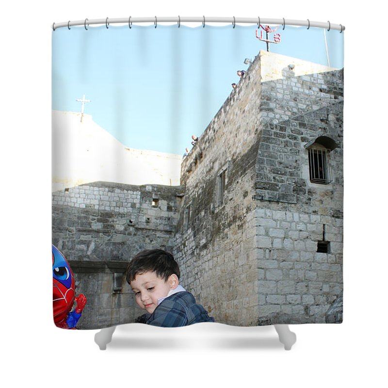 Child Shower Curtain featuring the photograph The Child Of Bethlehem 2010 by Munir Alawi