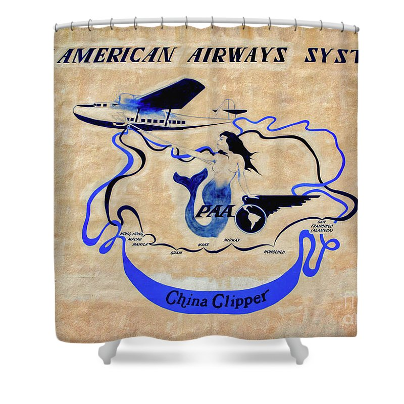 The China Clipper Shower Curtain featuring the photograph The China Clipper by Mitch Shindelbower