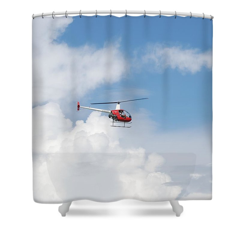 Helocopter Shower Curtain featuring the photograph The Chopper by Rob Hans