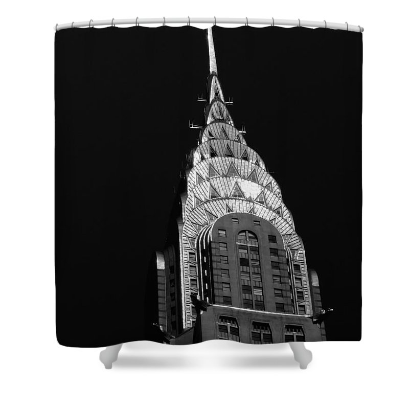 Chrysler Building Shower Curtain featuring the photograph The Chrysler Building by Vivienne Gucwa