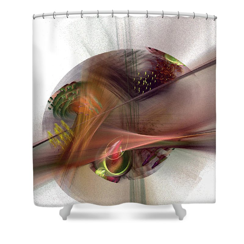 Abstract Shower Curtain featuring the digital art The Circle Sea by NirvanaBlues