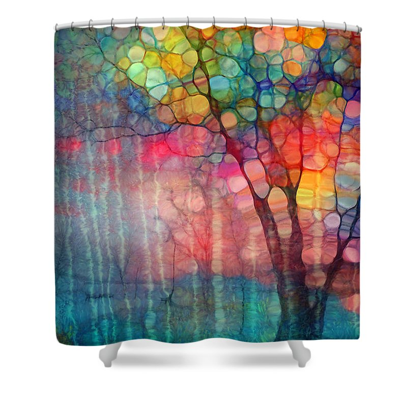 Tree Shower Curtain Featuring The Photograph Circus By Tara Turner