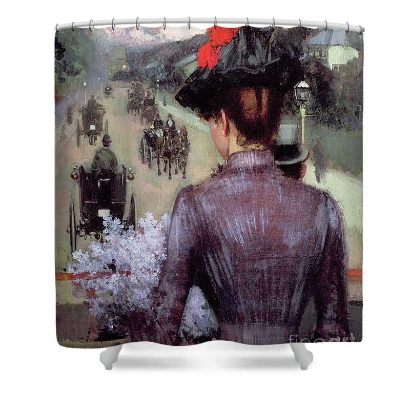 The City Atlas Shower Curtain Featuring Painting By Sidney Starr