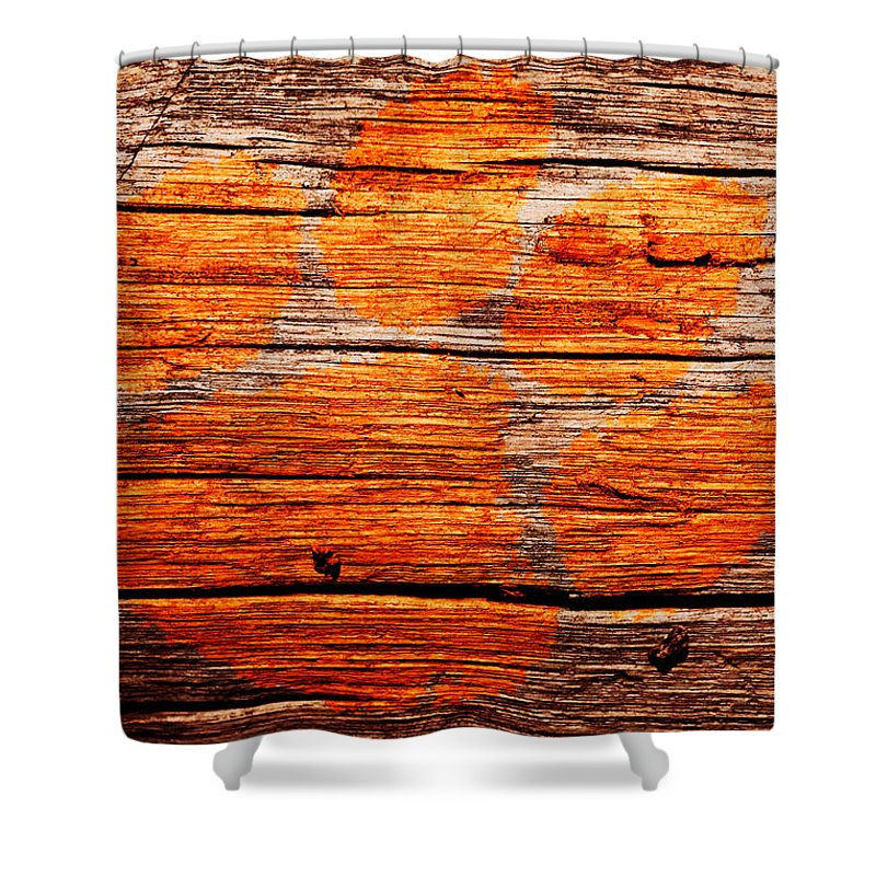 Clemson Tigers Football Shower Curtain Featuring The Mixed Media The Clemson  Tigers By Brian Reaves
