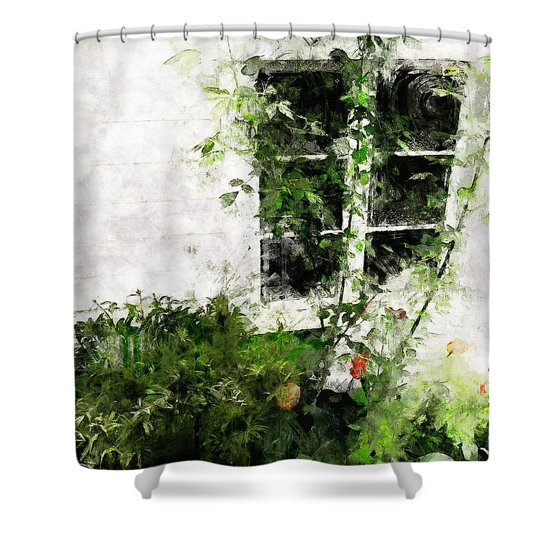 Window Shower Curtain featuring the photograph The Climb by Claire Bull