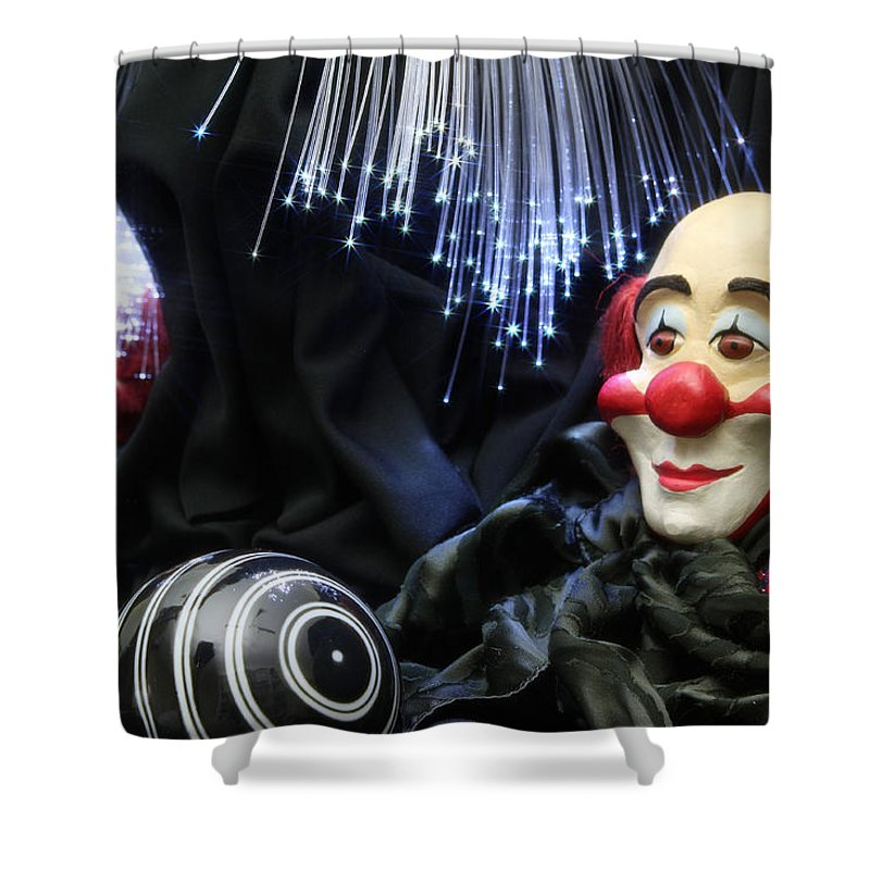 Clown Shower Curtain featuring the photograph The Clown by Manfred Lutzius